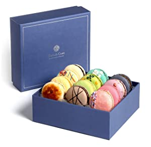 Kayla's Cake Premium French Macarons Cookies Gift Baskets Gourmet Chocolate Box Desserts Birthday Snack Care Packages College Students Fathers Day Thank You Macaroon Dad Women her Men Classic 12