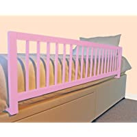 Safetots Extra Wide Wooden Bed Rail, Pink