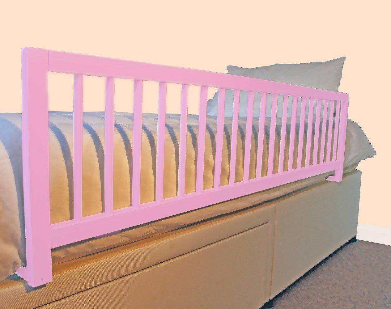 Safetots - Paracolpi per letto, extra largo, in legno, colore: rosa Safetots Limited ST-EWWBRP