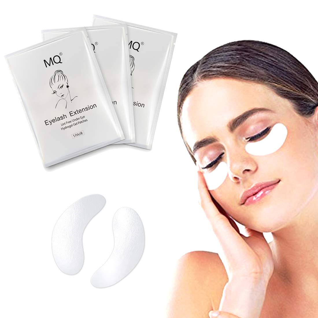 50/100/300 Pairs Lint Free Under Eye Gel Patches for Eyelash Extension Eye Mask Beauty Tool (300 Pairs)