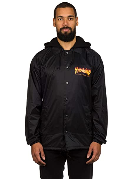 04607494f15c Thrasher Flame Logo Fleece Hood Coach Jacket (X-Large)  Amazon.ca ...