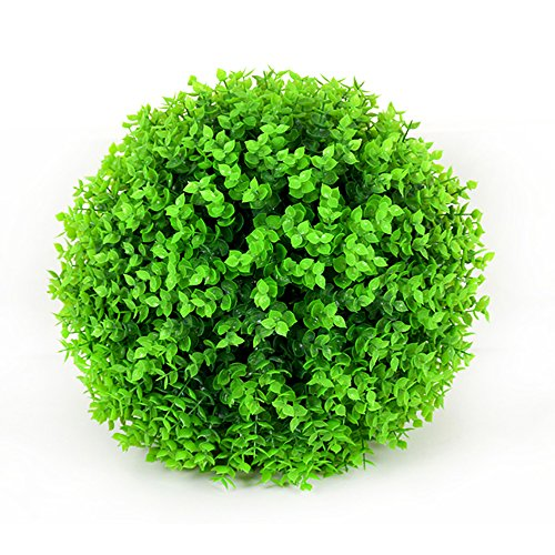 Yunhigh Artificial Plant Ball Decorative Boxwood Simulation Grass Ball Plastic Greenery Globe Green for Wedding Shopping Mall Christmas Home Decor(2pcs, 29cm) by Yunhigh