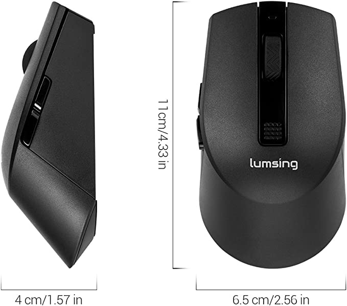 Lumsing Wireless Mouse Gaming 2.4G USB Nano Receiver