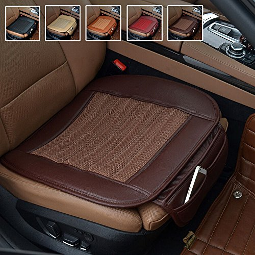 Suninbox Car Seat Cushion, Car Seat Covers[Bamboo Charcoal] Breathable Comfortable Car Cushion,Anti-Skid Leather...