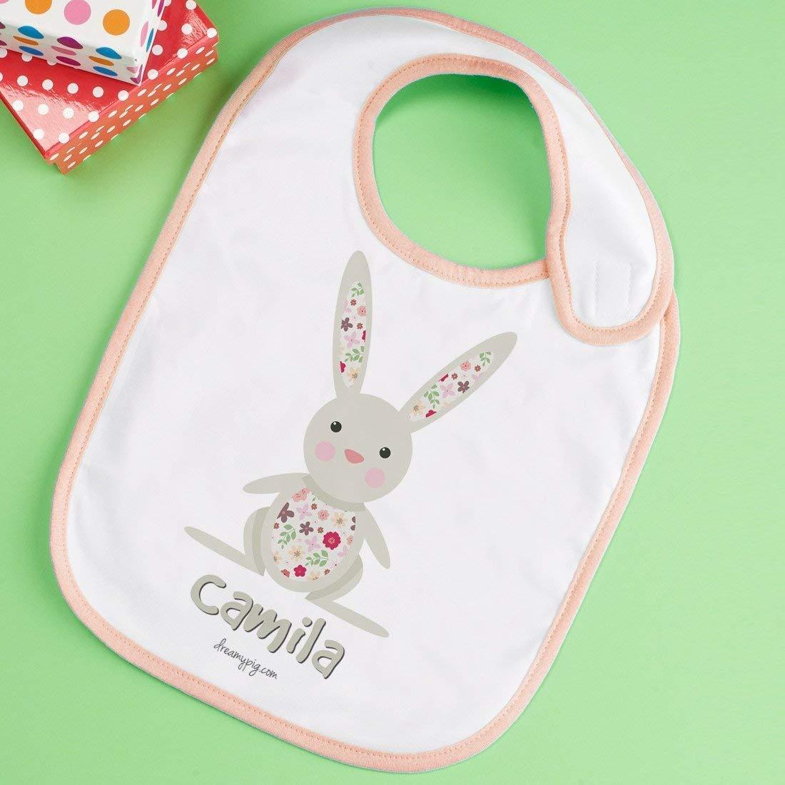 Babero Conejo personalizado con el nombre del peque
