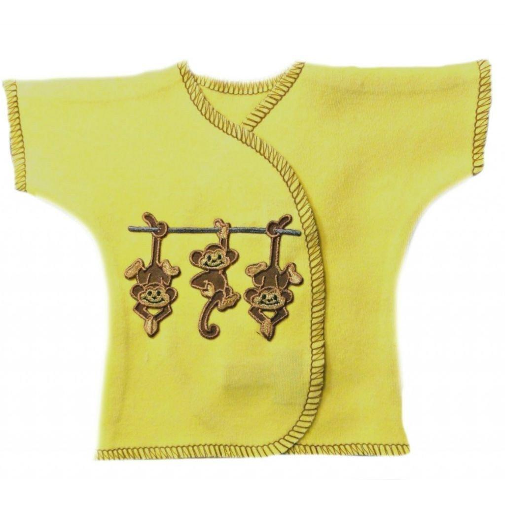 Jacqui's Unisex Baby Monkey Business Shirt, Small Newborn