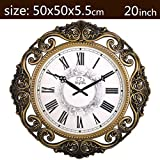 modern living room ideas Royal-20 inches Watches European-style wall clock Modern living room ideas Mute electronic clock Wall hanging Art quartz clock