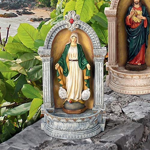 (Design Toscano Virgin Mary of The Miraculous Medal Italian-Style Font)