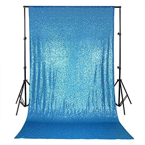 QueenDream Aqua Blue Sequin Backdrop 4ftx8ft Bridal Backdrop Sequin backdrops Backgrounds for Photography