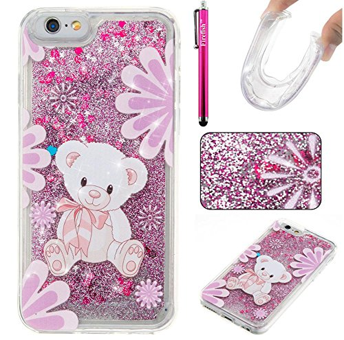 "Price comparison product image iPhone 6 Plus / 6S Plus Case,  Firefish Luxury Liquid Thin [SOFT-FLEX] Gel TPU Protective Skin Scratch-Proof Protective Case for Apple iPhone 6 Plus / 6S Plus 5.5"" -L-Bear"