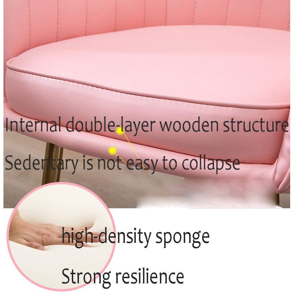 HEJINXL matrumsstol köksstol datorstol sminkstol fåtöljer med ryggstöd läder mottagningsstol förgylld bendräkt (färg: Z) b