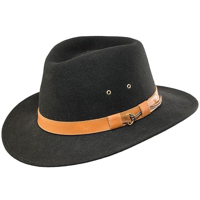 81cc4ae8 Bigalli Outback Wool Felt Hat at Amazon Men's Clothing store:
