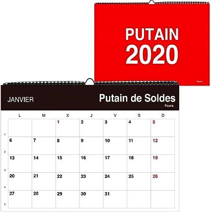 Calendrier Putain 2021 Putos Modernos   Fisura PM0869 Wall Calendar 2019 'Putain