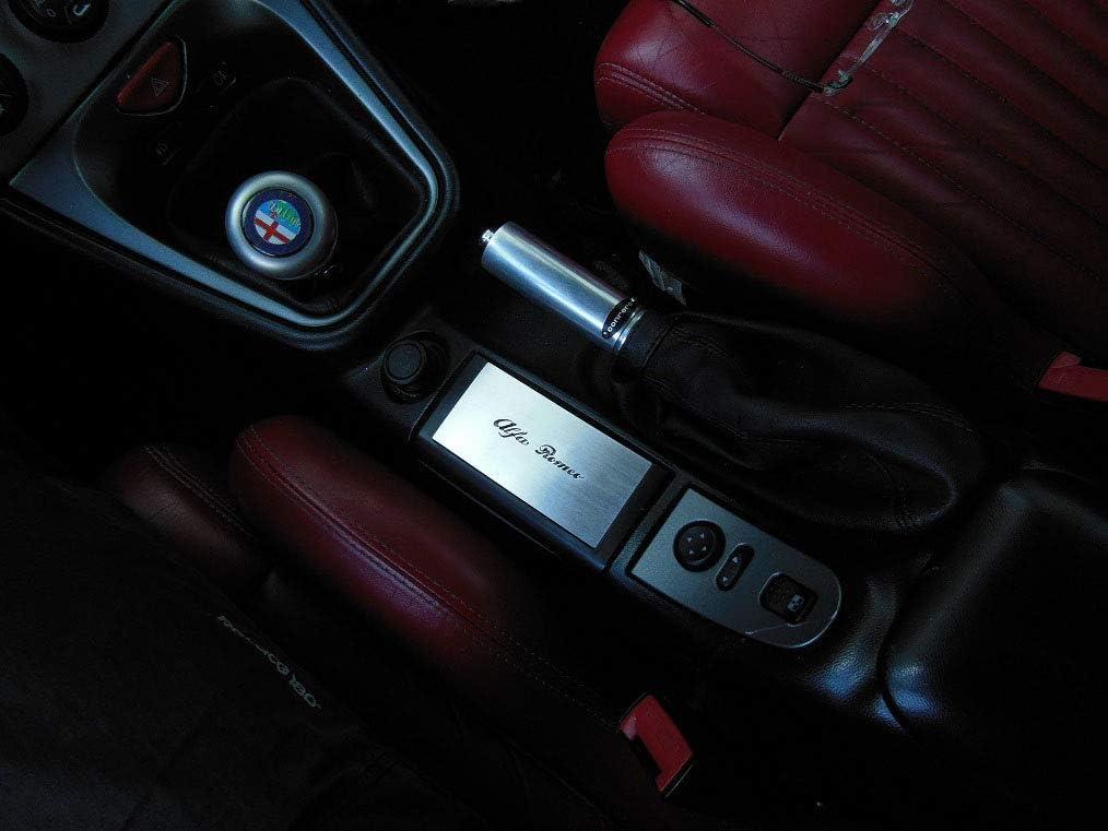 Interieur Stahlabdeckung Für Alfa Romeo Gtv Spider 916 1 Stück Mittelkonsole Platte Zubehör Edelstahl Gebürstet Blenden Cockpit Dekor Mass Angefertigt Auto
