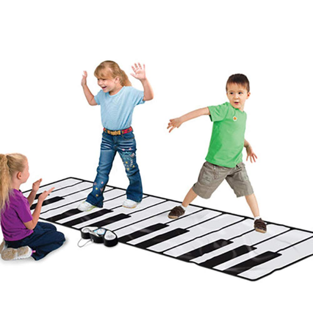 QXMEI ダンスブランケット 子供用 ダンスマット 子供用 ピアノ ダンスパッド フットプリント ピアノ 音楽パッド 製品サイズ: 102.4インチ 29.1インチ B07HBSJDZM