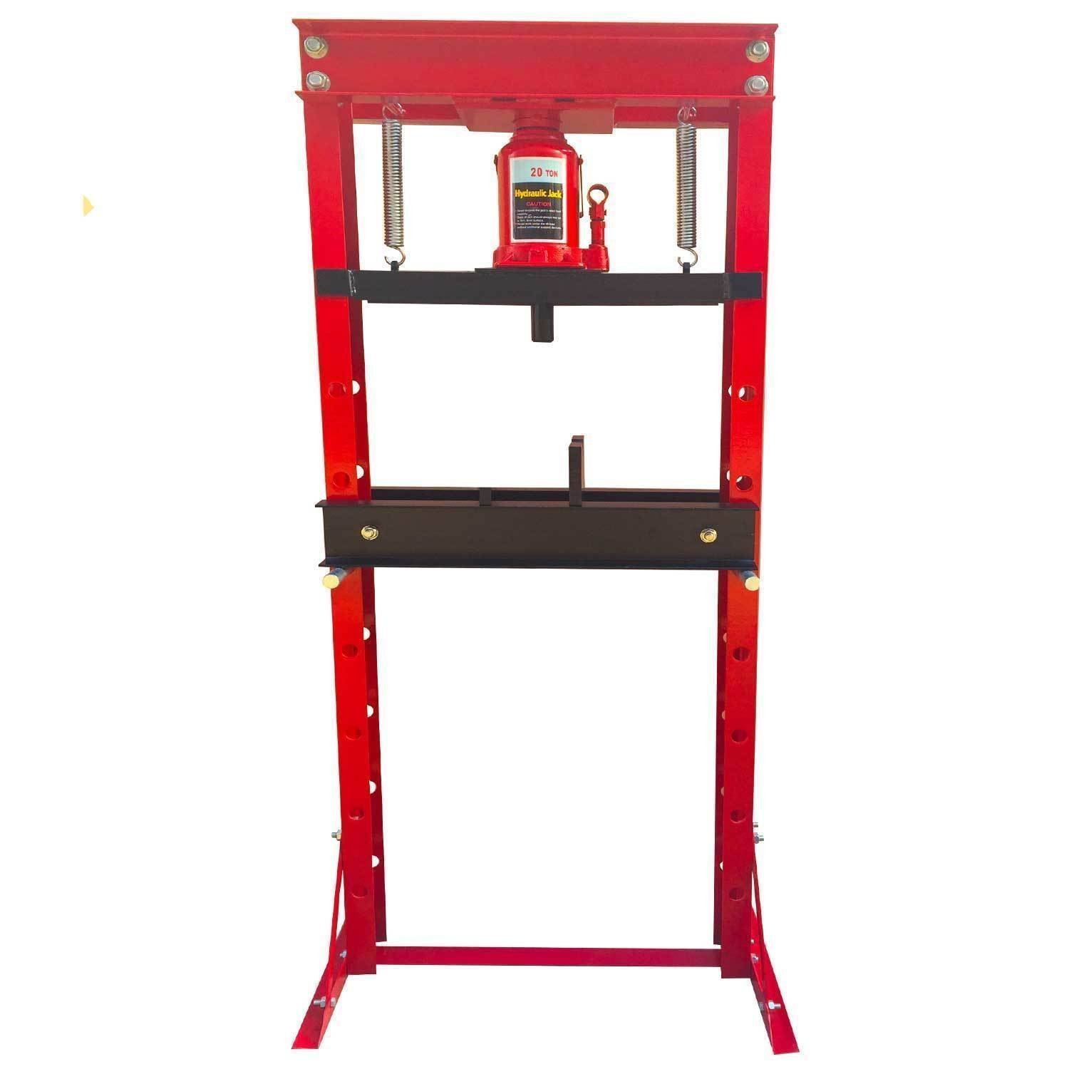 20 Ton Hydraulic Shop Press Floor Press H Frame Load capacity: 20 ton Overall height: 61''