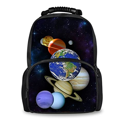 a154f3c57e53 Amazon.com: Coloranimal Popular Men's Galaxy Pattern Felt Backpack ...