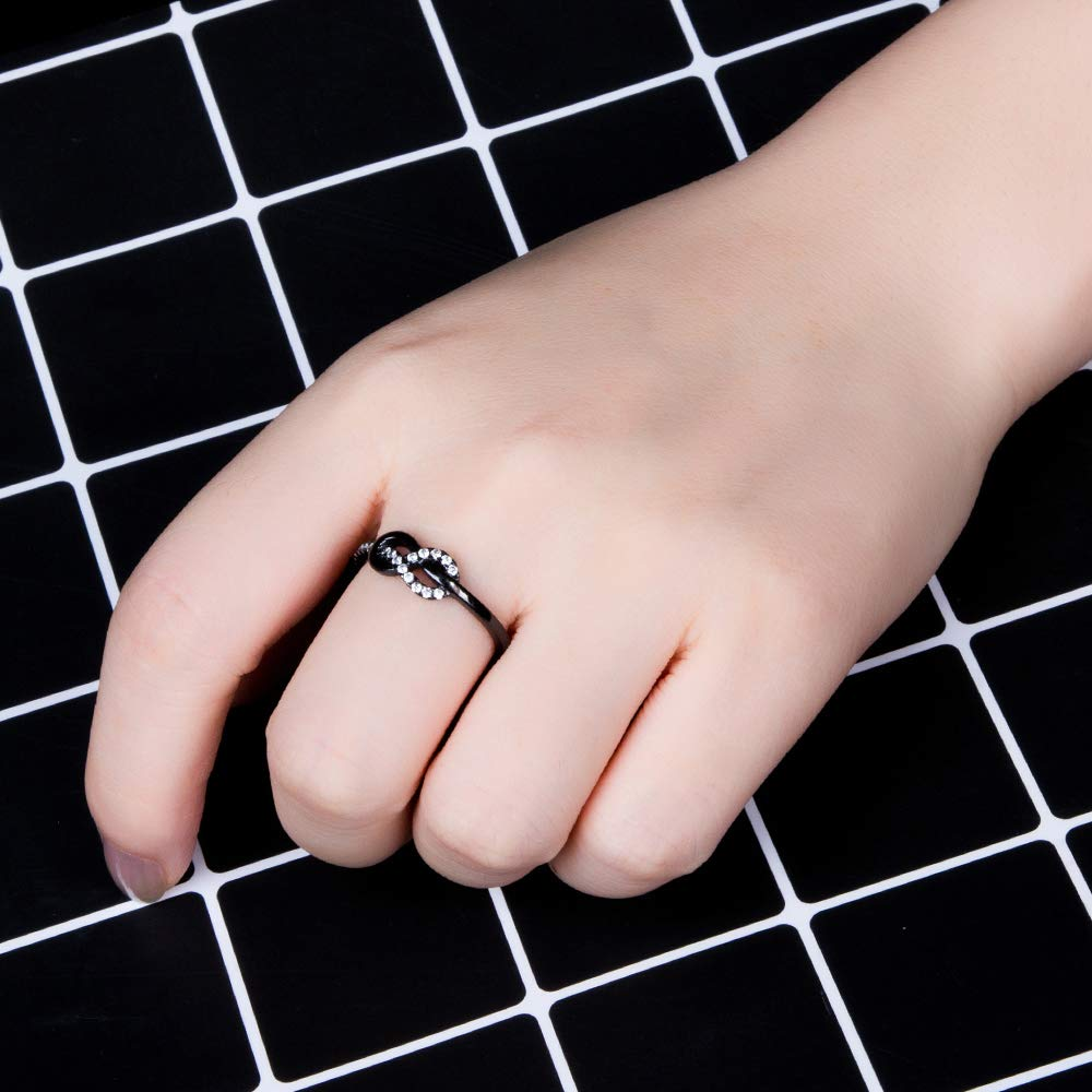 Amazon.com: M&D Jewelry Women\'s Infinity Best Friend Ring Promise ...
