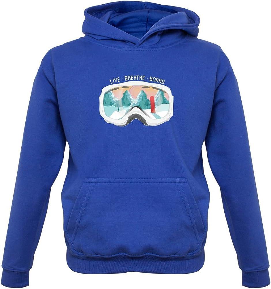 1-13 Years Kids Hoodie 9 Colours Snowboard Dressdown Snowgoggles