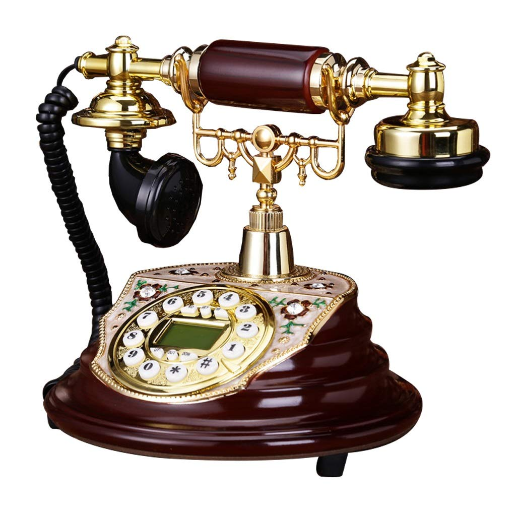 アンティーク装飾電話、携帯電話固定電話ホームオフィス固定ヨーロッパアンティークレトロ樹脂電話、25 * 18 * 22 cm、から選択するスタイルのバラエティ (三 : B) B07JVBCTX1 B