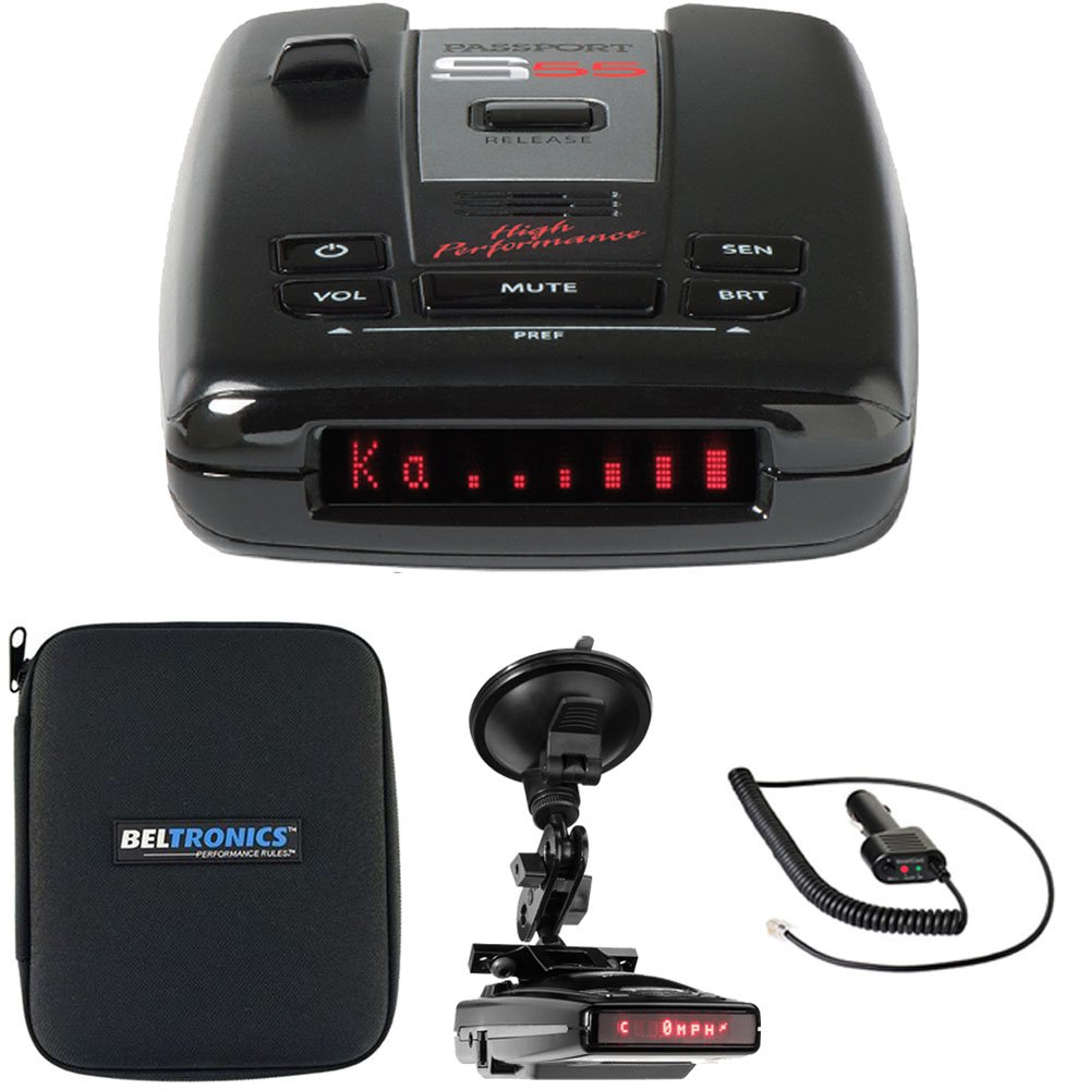 Escort Passport S55 High Performance Radar /Laser Detector with RadarMount Suction Mount Bracket For Radar Detectors