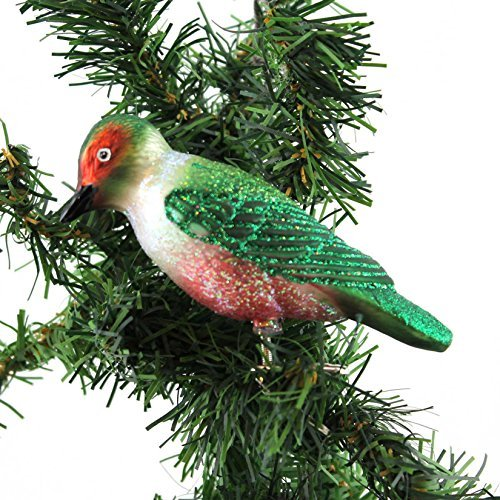 Old World Christmas Lewis's Woodpecker Glass Ornament