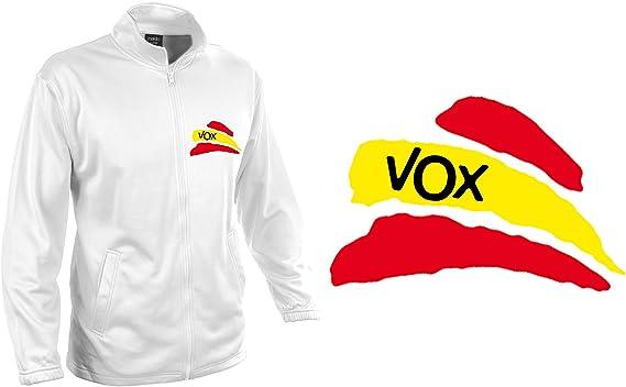 MERCHANDMANIA Chaqueta Tecnica 1 Dibujo Partido VOX Bandera ESPAÑOLA Jacket: Amazon.es: Ropa y accesorios