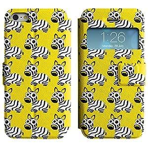 Be-Star Diseño Impreso Colorido Slim Casa Carcasa Funda Case PU Cuero - Stand Function para Apple iPhone 5 / 5S ( Cute Zebra )