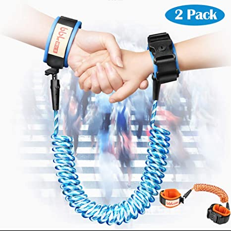 2.5M Orange 2.5M Enfant Anti Perdu S/écurit/é Bracelet Lien Harnais Corde de Confortable Extra L/ég/ère et Respirant