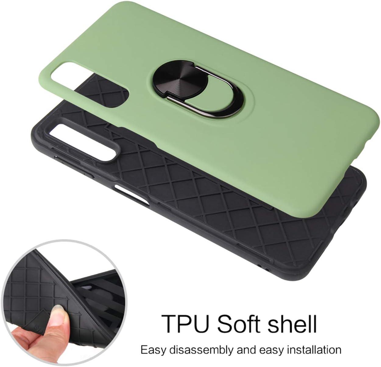 pel/ícula de protecci/ón Joytag 2 paquetes anillo giratorio magn/ético soporte para tel/éfono m/óvil del coche TPU Silicona Bumper Protectora Caso Negro Funda para Samsung Galaxy S8
