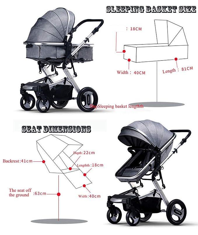 Silla de Paseo de Bebe Cochecito Plegable,Carro para Bebe ...