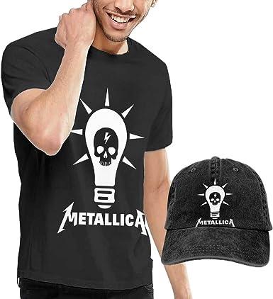 LixuA Metallica - Camiseta de Manga Corta y Gorro para Hombre - Negro - Small: Amazon.es: Ropa y accesorios