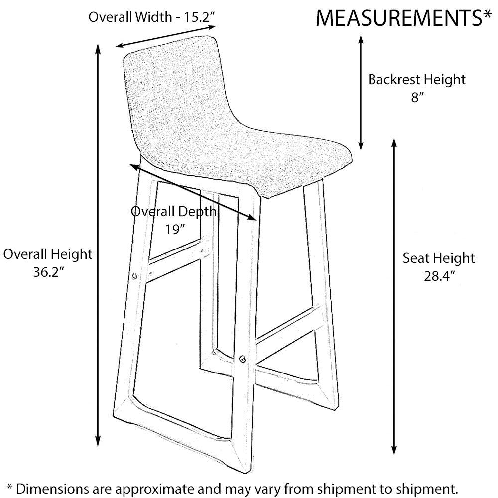 Remarkable Amazon Com Chelsea Contemporaneo Madera Tejido Barstool Andrewgaddart Wooden Chair Designs For Living Room Andrewgaddartcom