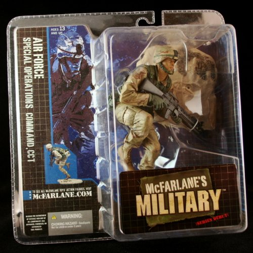 AIR FORCE SPECIAL OPERATIONS COMMAND, CCT * AFRICAN AMERICAN VARIATION * McFarlane's Military Series 1 Action Figure & Display Base (Air Command Action Figure)