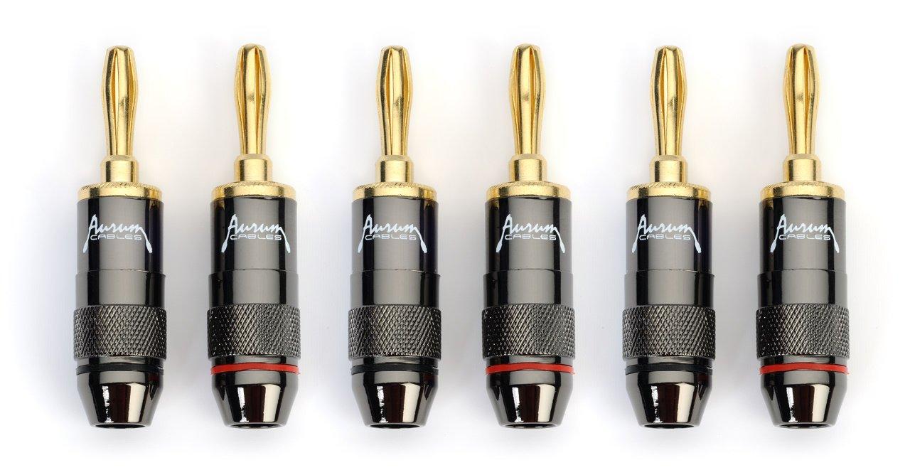 Amazon.com: Aurum Chrome Series 24k Gold plated Connector Banana ...