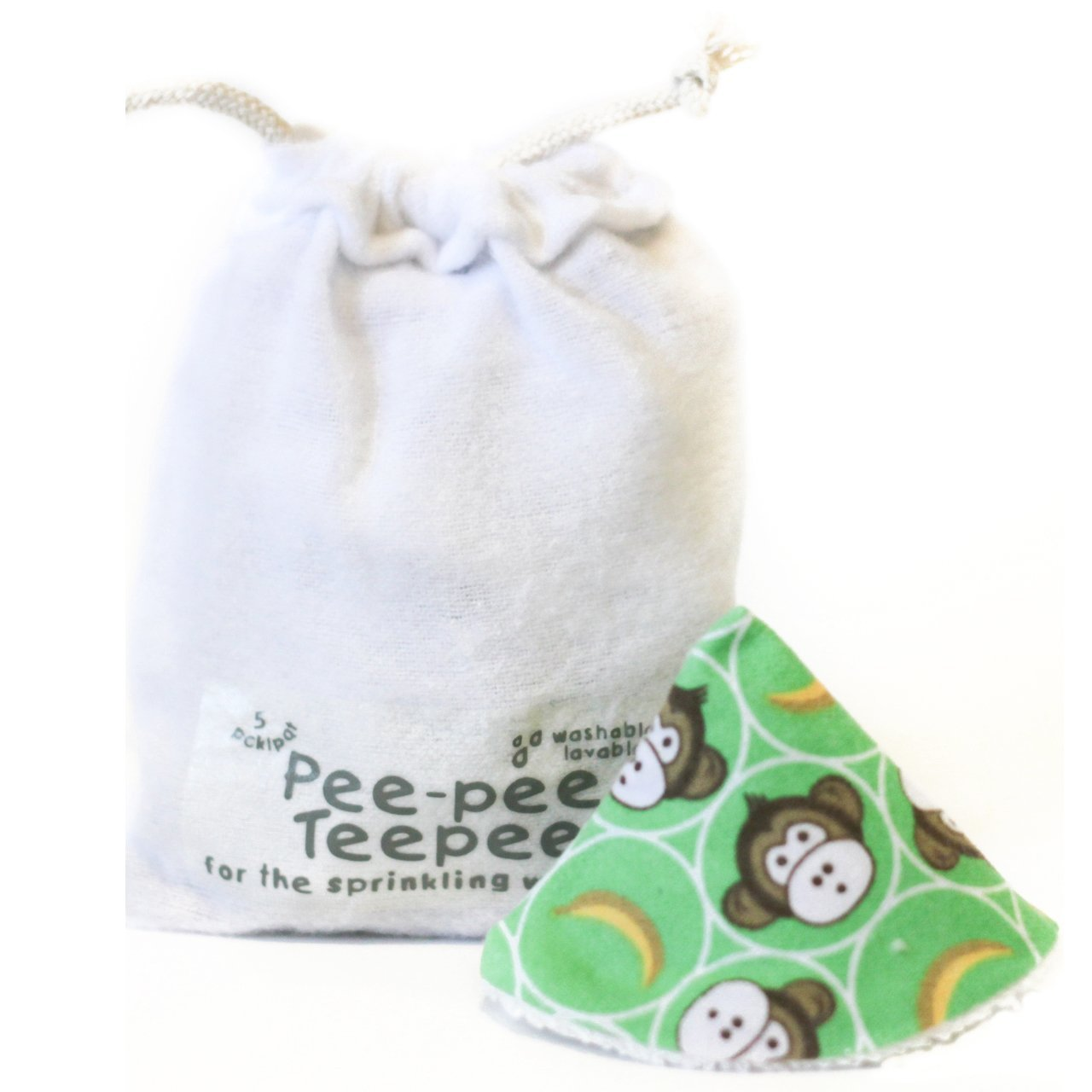 Pee-pee Teepee Lil Monkey Green - Laundry Bag Beba Bean PT3090