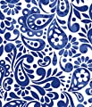 """Batik Scroll Royal Blue Gift Wrapping Roll 24"""" X 16' - All Occasion Gift Wrap Paper"""