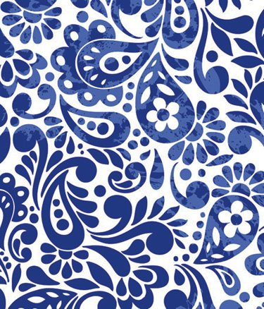 amazon com batik scroll royal blue gift wrapping roll 24 x 16
