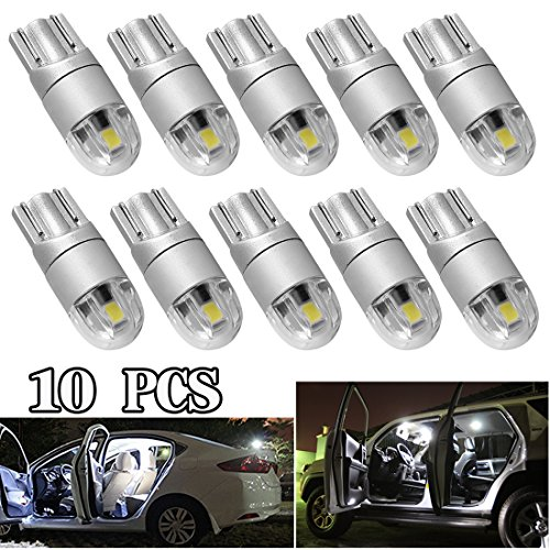 T10 LED Light Bulb W5W 194 Super Bright 3030 2SMD for Car Interior Exterior Lights(T10 - Uv Check Code