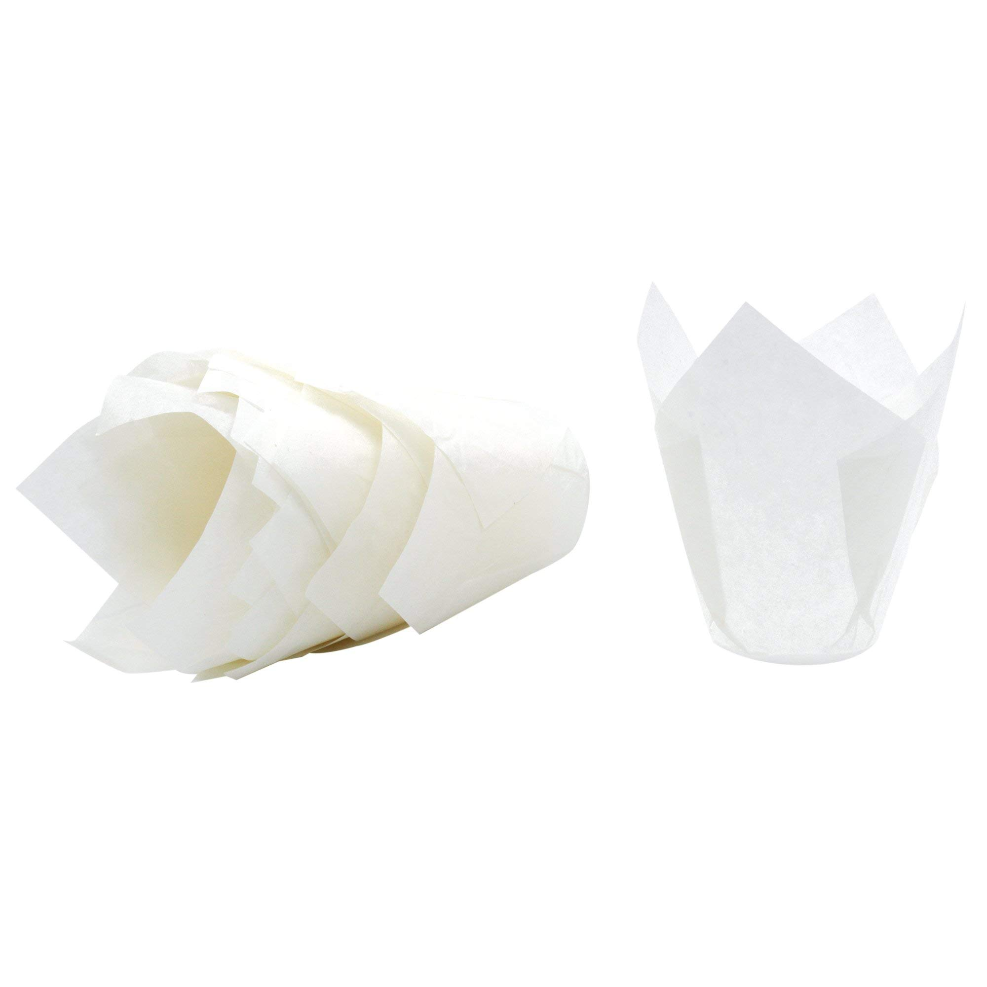 White Tulip Baking Cups, Mini Size, Pack of 250 by Ecobake (Image #3)
