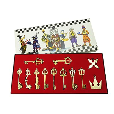 Costumes & Accessories Kingdom Hearts 2 Ii Keyblade Keychain Pendant Necklace Set Box 12pcs Weapons Set Collection Latest Fashion Costume Props