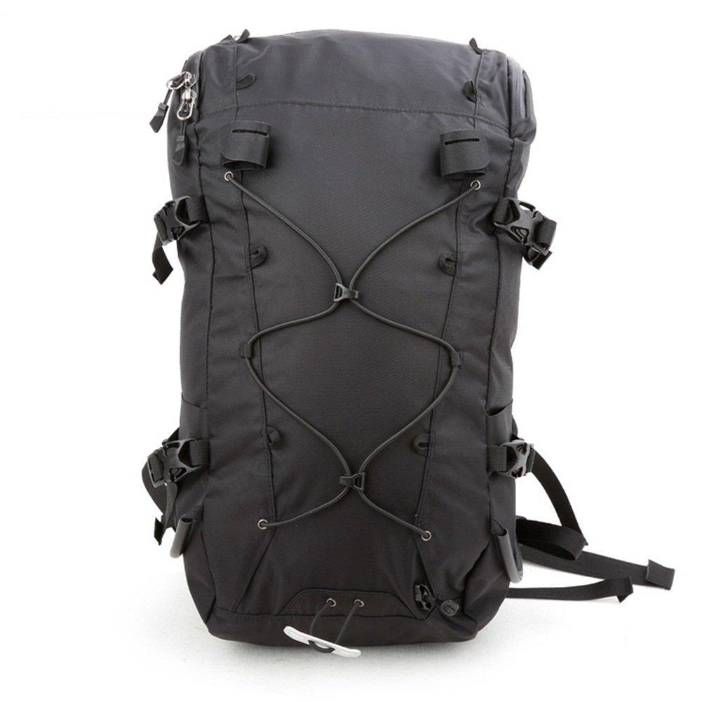 FZGアウトドア登山バッグ肩メンズとレディース多機能大容量防水旅行バックパック  ブラック B07G13583D