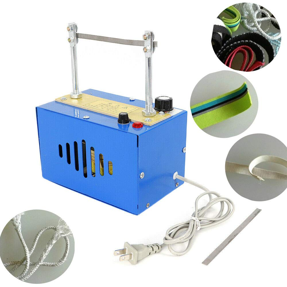 Electric Rope Cutter, Bench Mount Hot Knife Thermal Blade Heating Cut Rope Cord Tape Cutting Machine for Braid Fabric Webbing Belting Ribbon