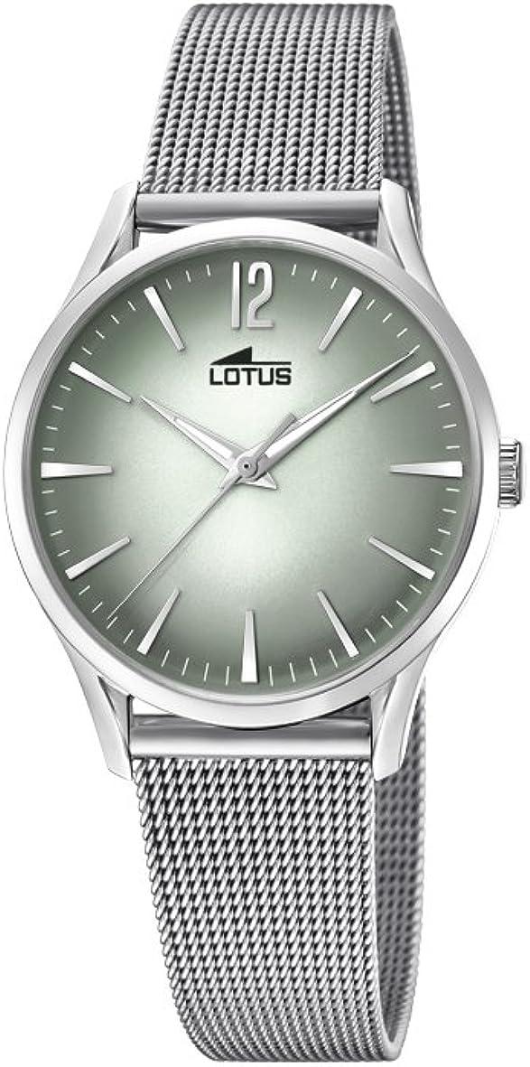 Lotus Watches Reloj Análogo clásico para Mujer de Cuarzo con Correa en Acero Inoxidable 18408/4