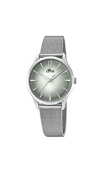 Lotus Watches Reloj Análogo clásico para Mujer de Cuarzo con Correa en Acero Inoxidable 18408/