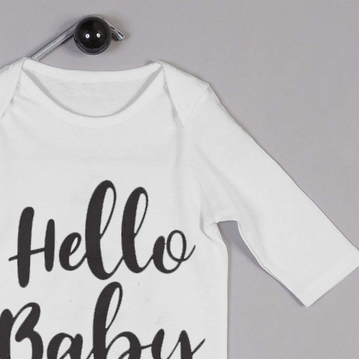 Gary Katte Hello Baby Newborn Jumpsuit Infant Baby Girls Long-Sleeve Bodysuit Playsuit Outfits Clothes White