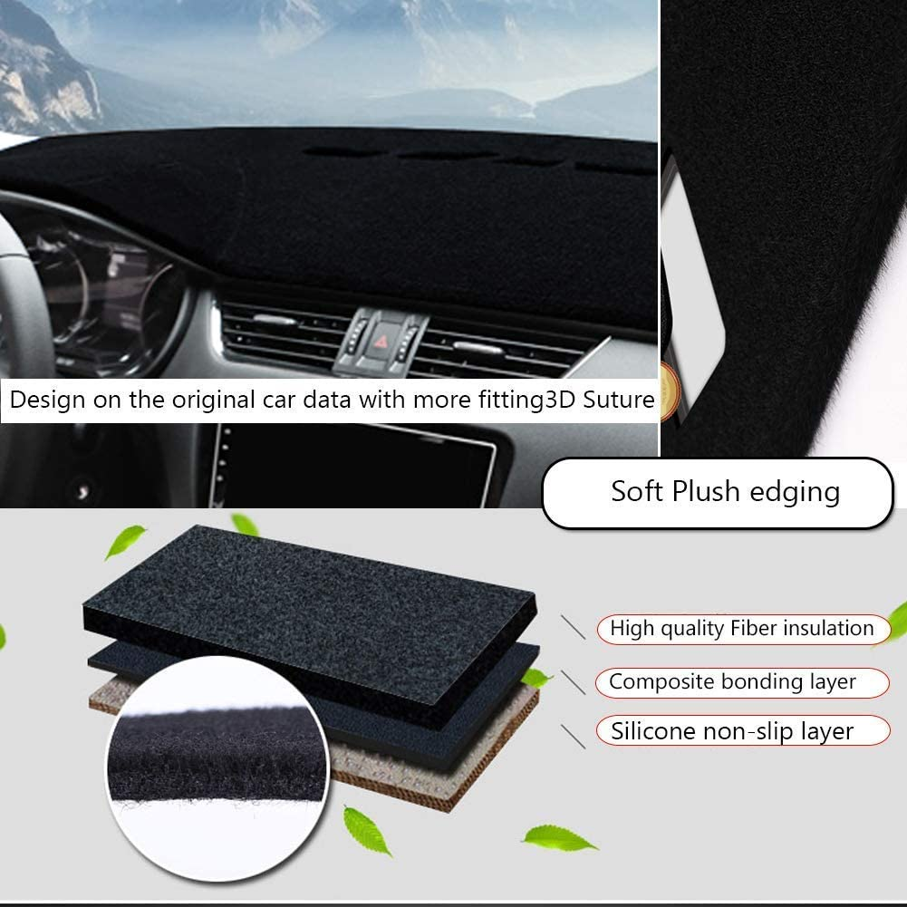 Gray Extra Thick Car Sunshield Protector Pad MR001 Dashboard Cover for GMC Yukon 2007-2014 Premium Custom Dash Mat Non-Slip