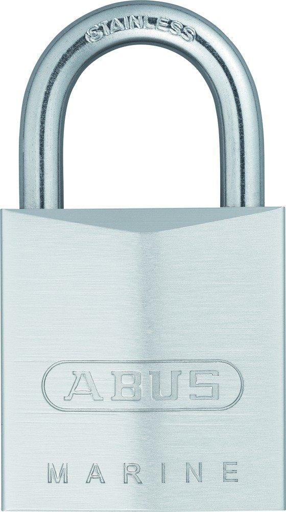 Abus 75IB/30_KA - Candado cromado llave de seguridad arco Inoxidable 30mm llaves iguales 28636