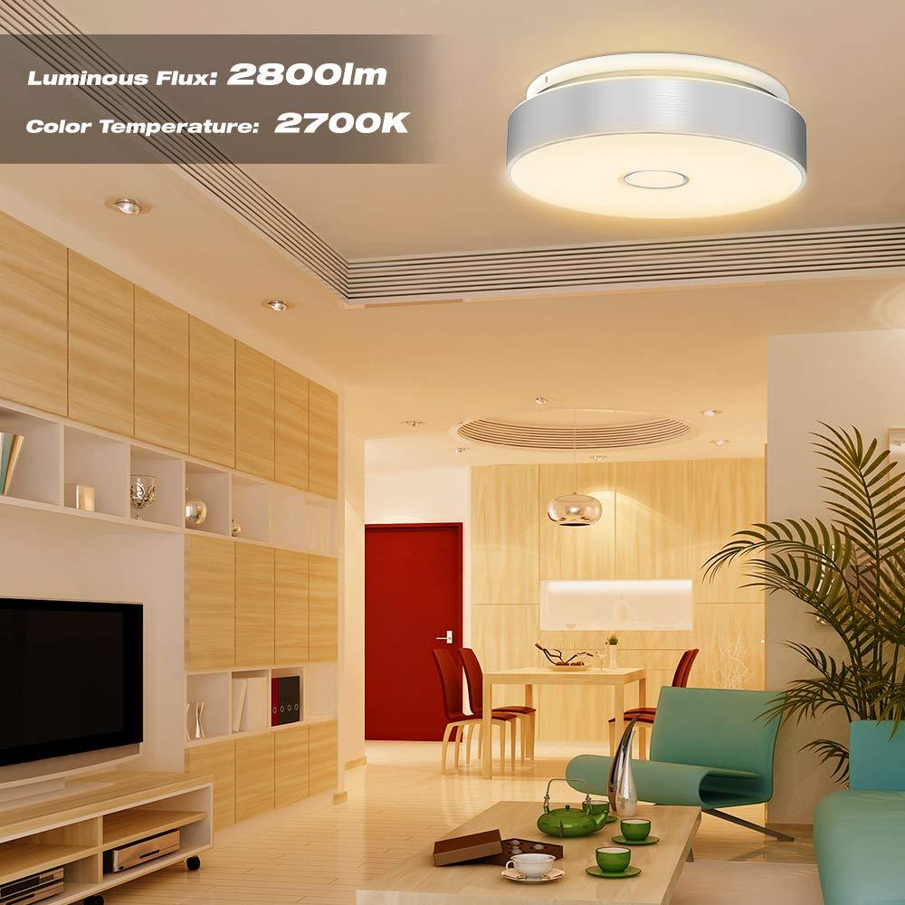 Onforu Waterproof 32W LED Ceiling Lights, 12.8in, CRI 90+, 300W ...