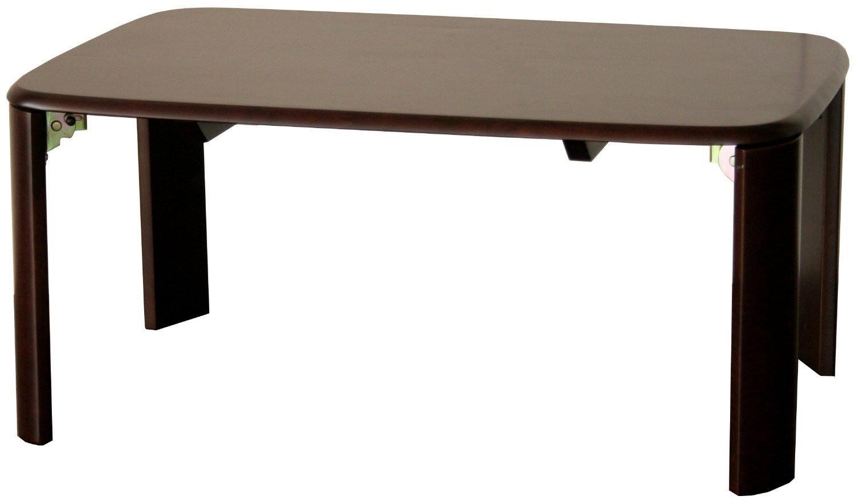 市場テーブル アジャストテーブル90 幅90×高さ33.5~38.5cm ダークブラウン T-2699DBR B01H1NYCCK ブラック|タイプ:アジャストテーブル90 ブラック